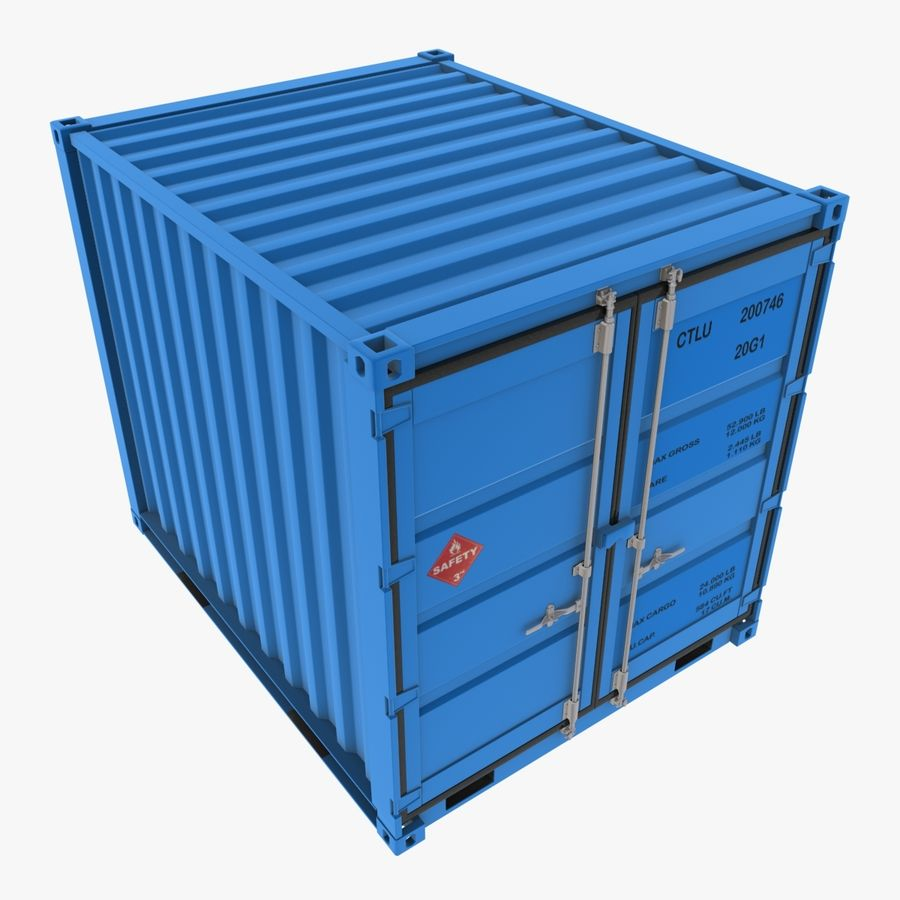 10_ft Container royalty-free 3d model - Preview no. 1