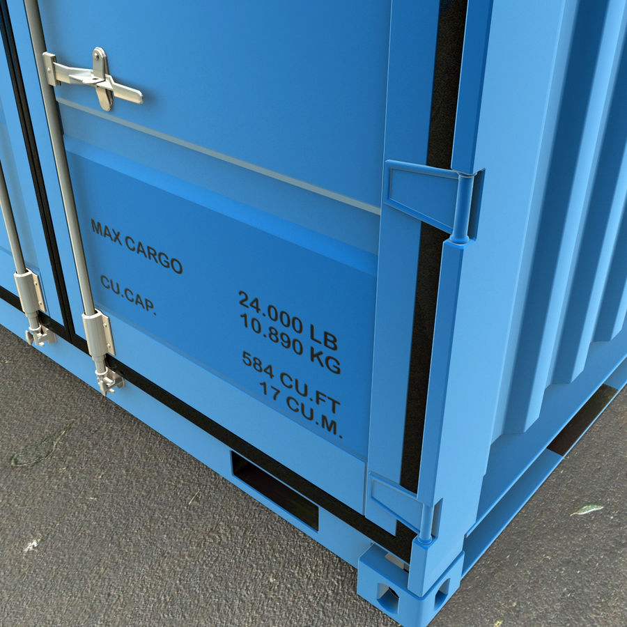10_ft Container royalty-free 3d model - Preview no. 9