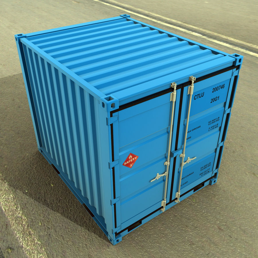 10_ft Container royalty-free 3d model - Preview no. 2