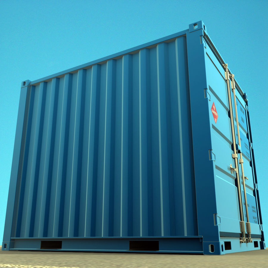 10_ft Container royalty-free 3d model - Preview no. 4