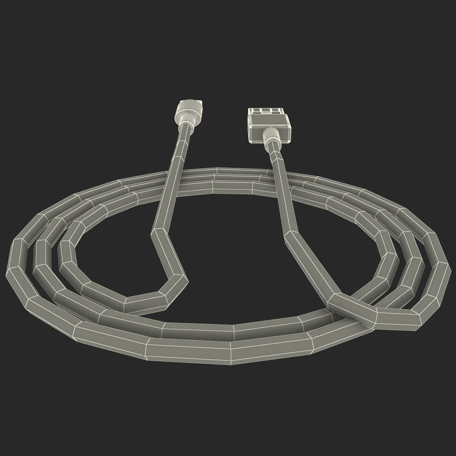 Apple Lightning Cable USB Connector royalty-free 3d model - Preview no. 18