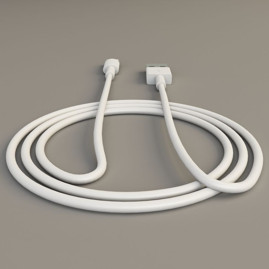 Apple Lightning Cable USB Connector royalty-free 3d model - Preview no. 9