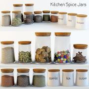 Kitchen Spice Jars 3d model