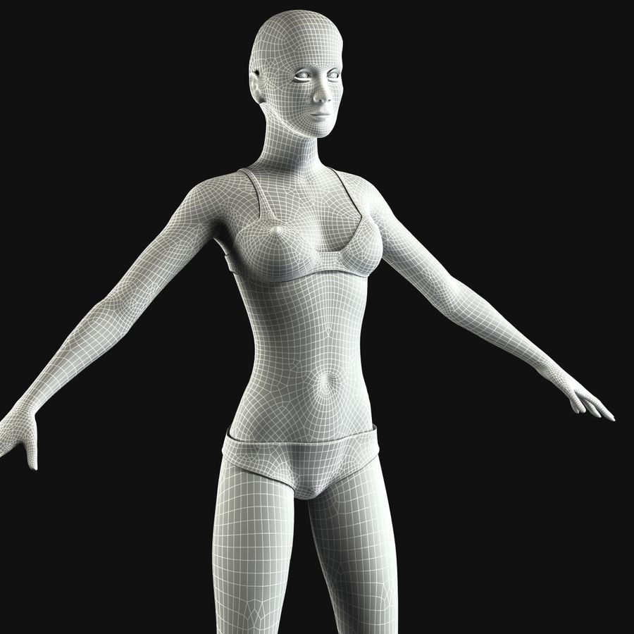 African Female Anatomy royalty-free 3d model - Preview no. 12