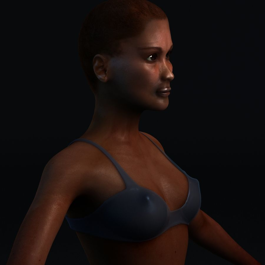 African Female Anatomy royalty-free 3d model - Preview no. 10