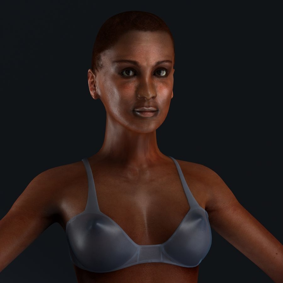 African Female Anatomy royalty-free 3d model - Preview no. 14