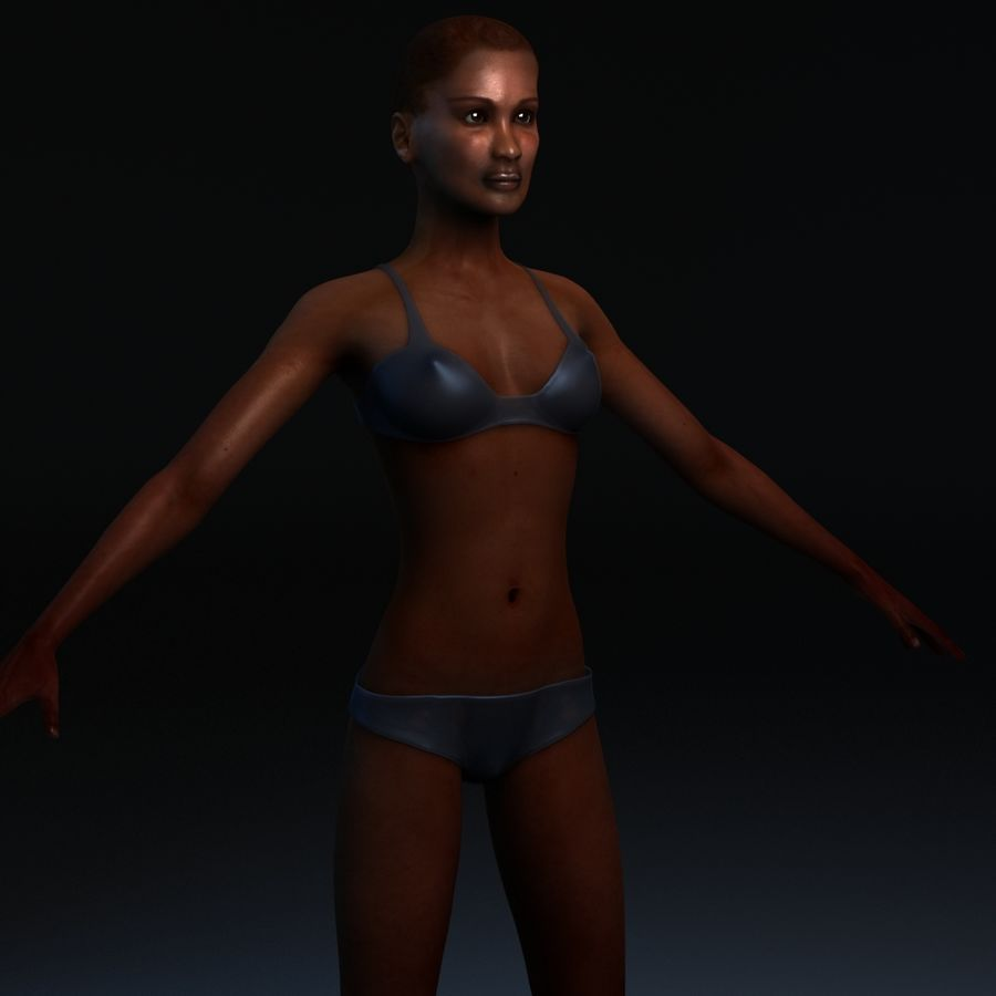 African Female Anatomy royalty-free 3d model - Preview no. 8