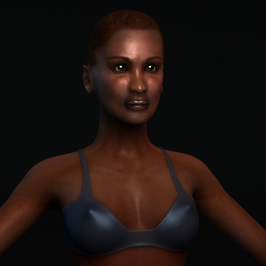 African Female Anatomy royalty-free 3d model - Preview no. 2