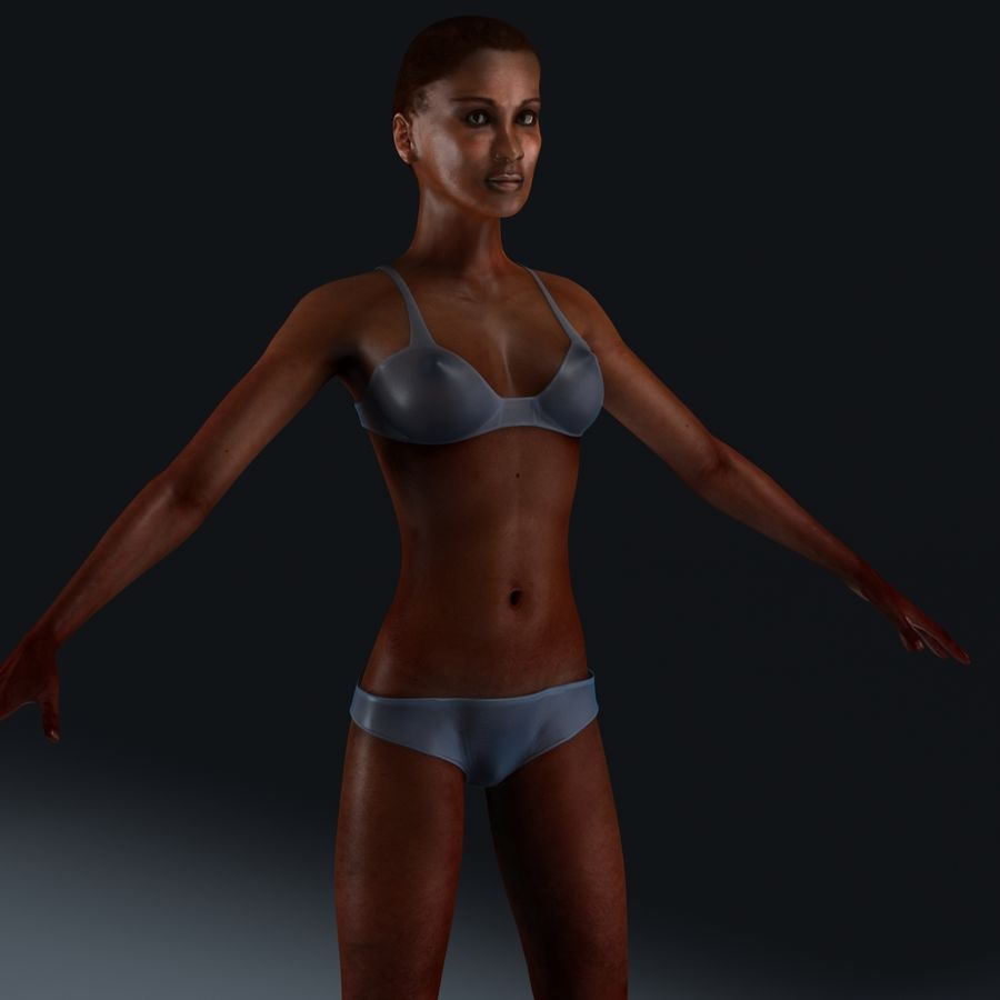 African Female Anatomy royalty-free 3d model - Preview no. 16
