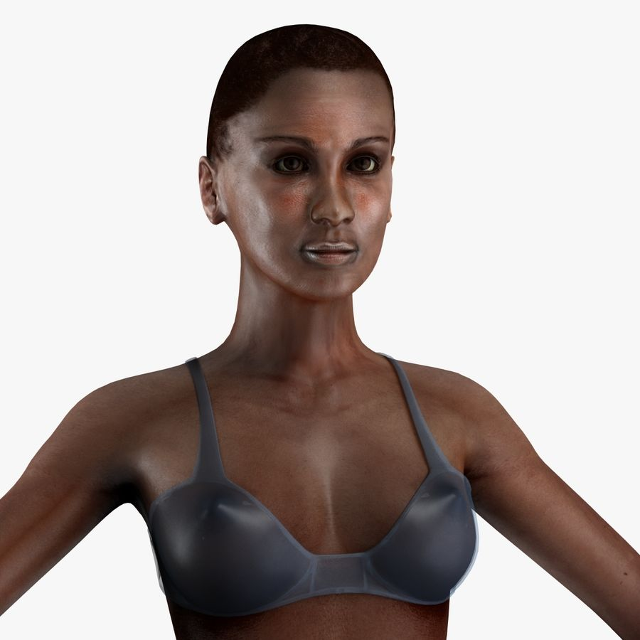 African Female Anatomy royalty-free 3d model - Preview no. 13