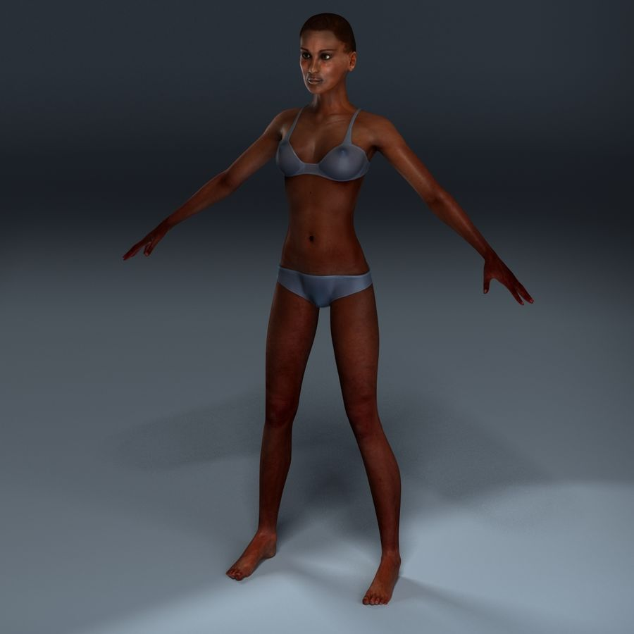 African Female Anatomy royalty-free 3d model - Preview no. 17