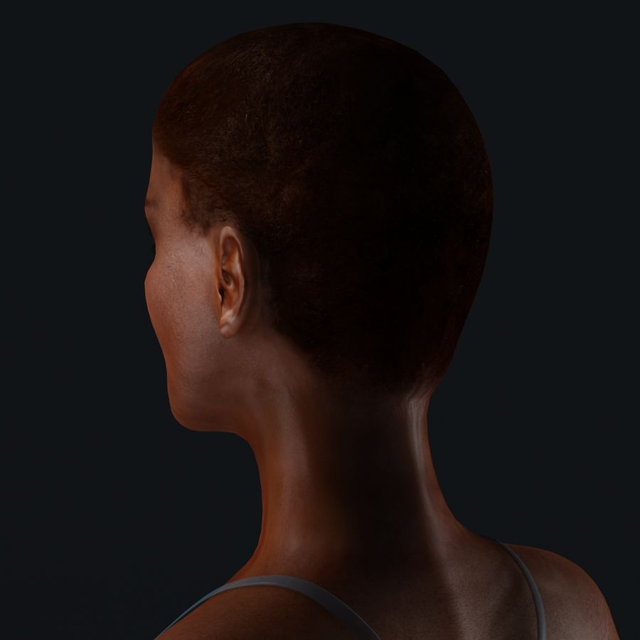 African Female Anatomy royalty-free 3d model - Preview no. 26