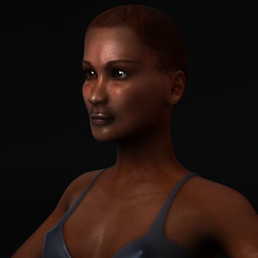 African Female Anatomy royalty-free 3d model - Preview no. 9