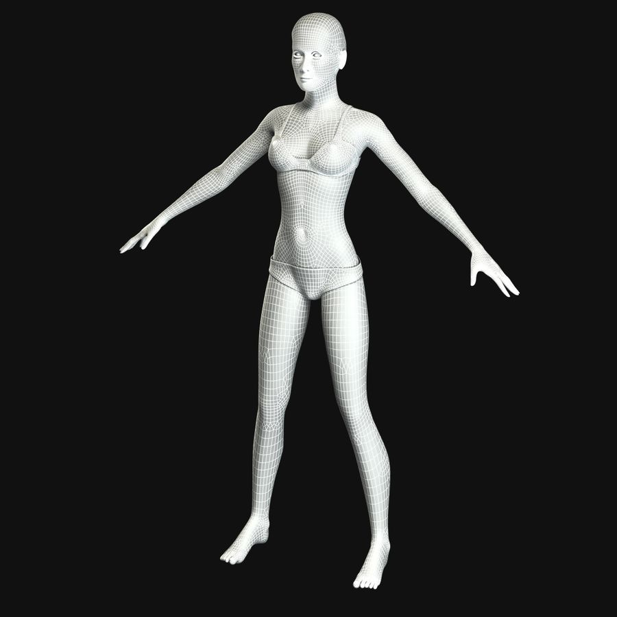 African Female Anatomy royalty-free 3d model - Preview no. 29
