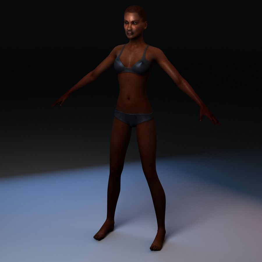 African Female Anatomy royalty-free 3d model - Preview no. 5
