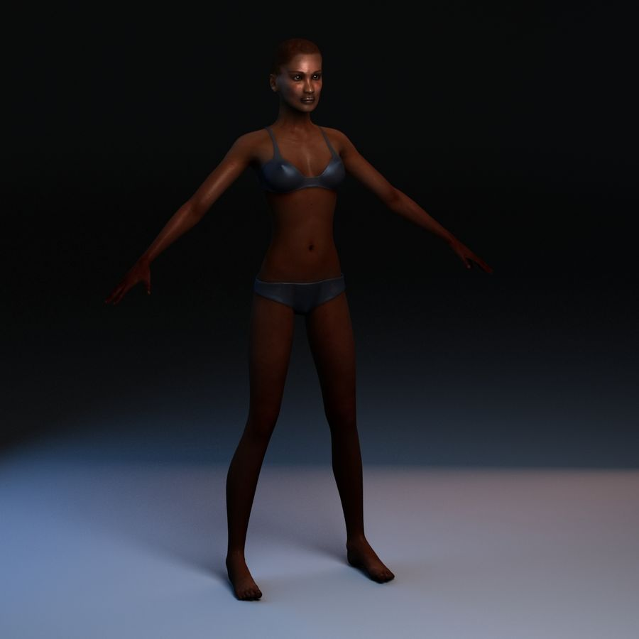 African Female Anatomy royalty-free 3d model - Preview no. 4