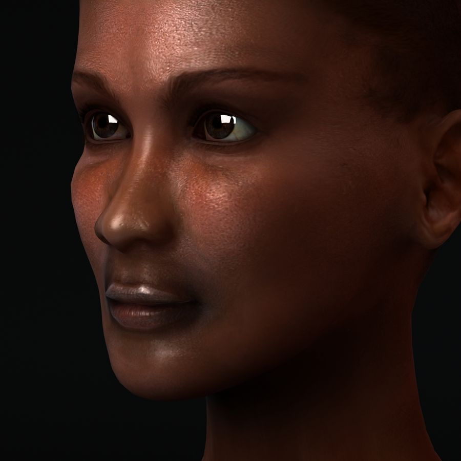 African Female Anatomy royalty-free 3d model - Preview no. 11