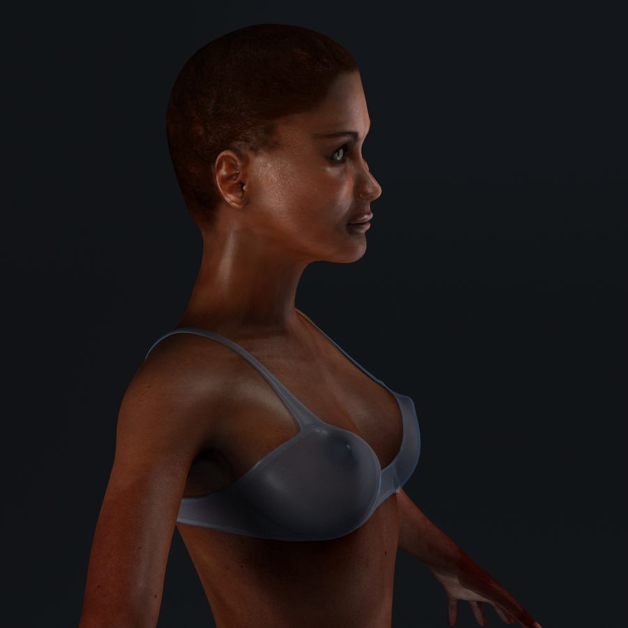 African Female Anatomy royalty-free 3d model - Preview no. 22