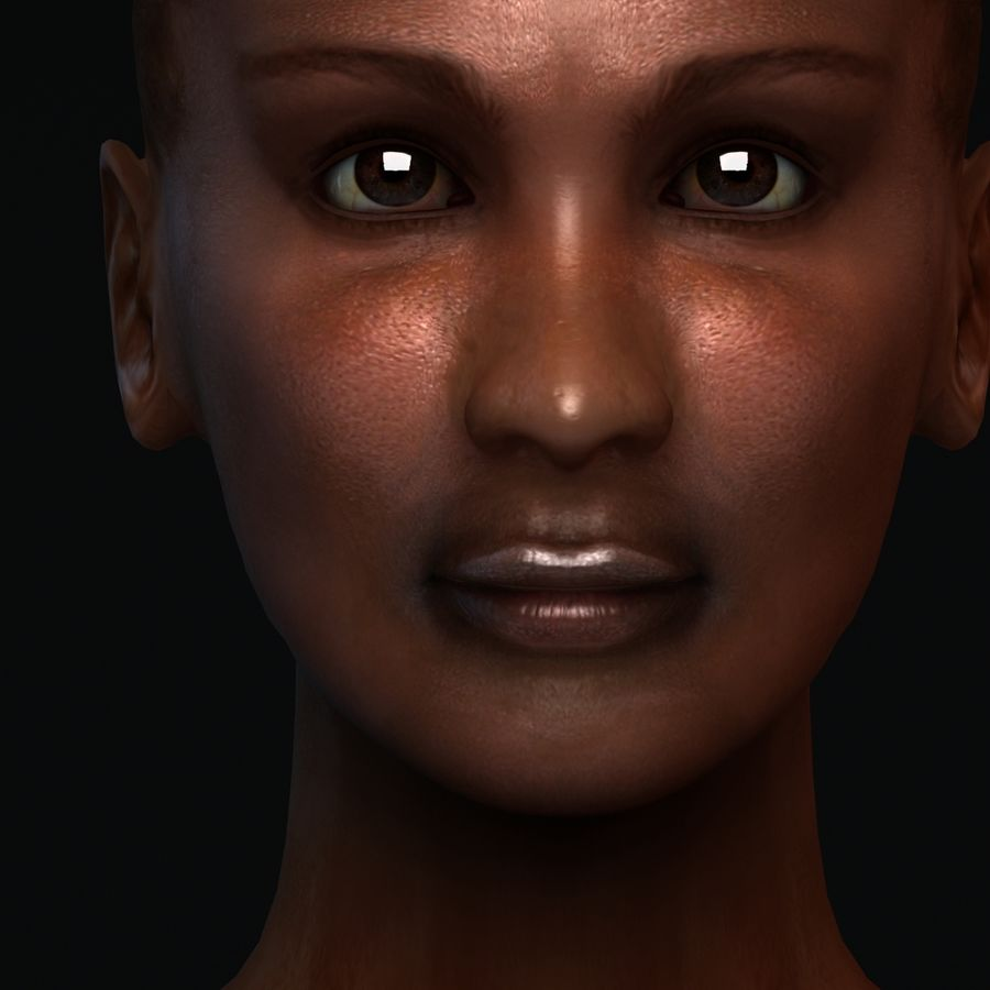 African Female Anatomy royalty-free 3d model - Preview no. 3