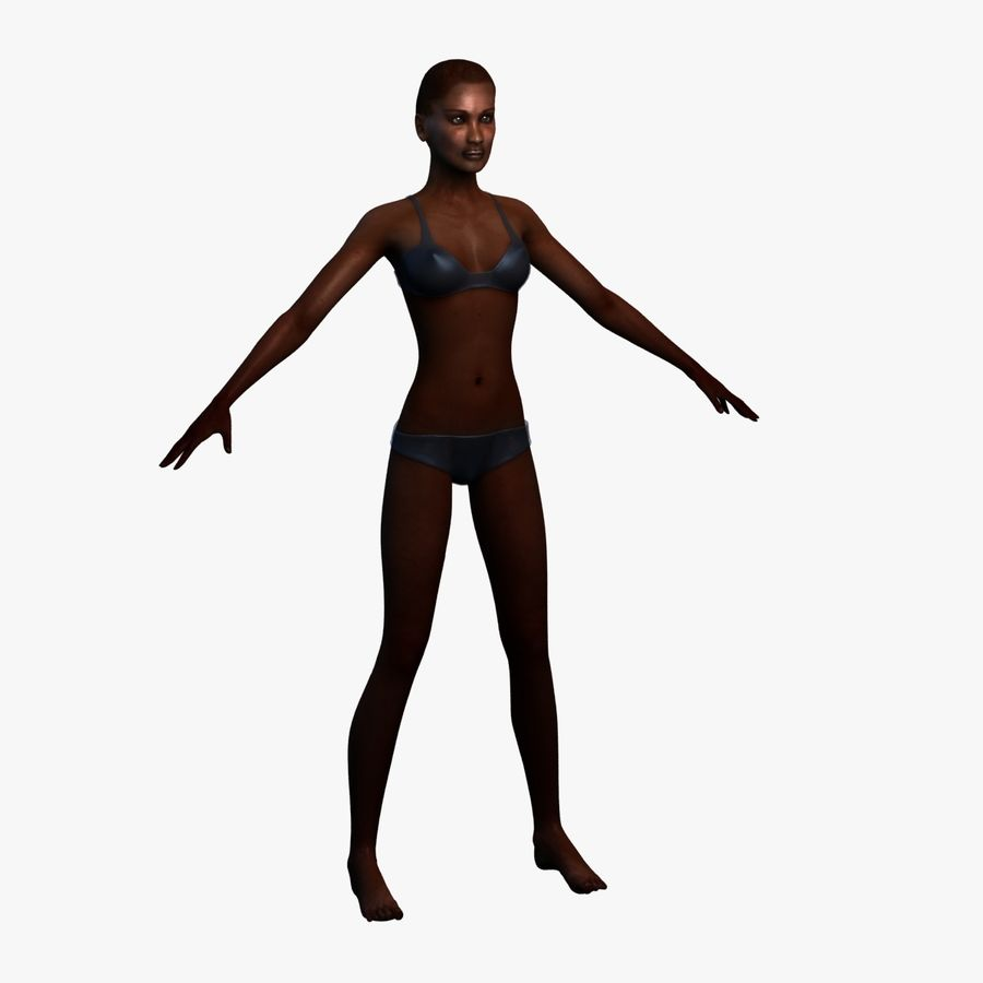 African Female Anatomy 3d Model 49 X Xsi Lwo X Wrl 3ds