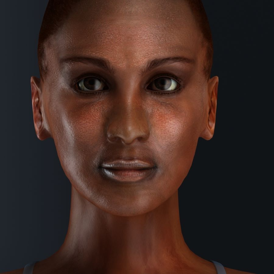African Female Anatomy royalty-free 3d model - Preview no. 19
