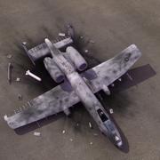 A10 Thunderbolt Crash 3d model