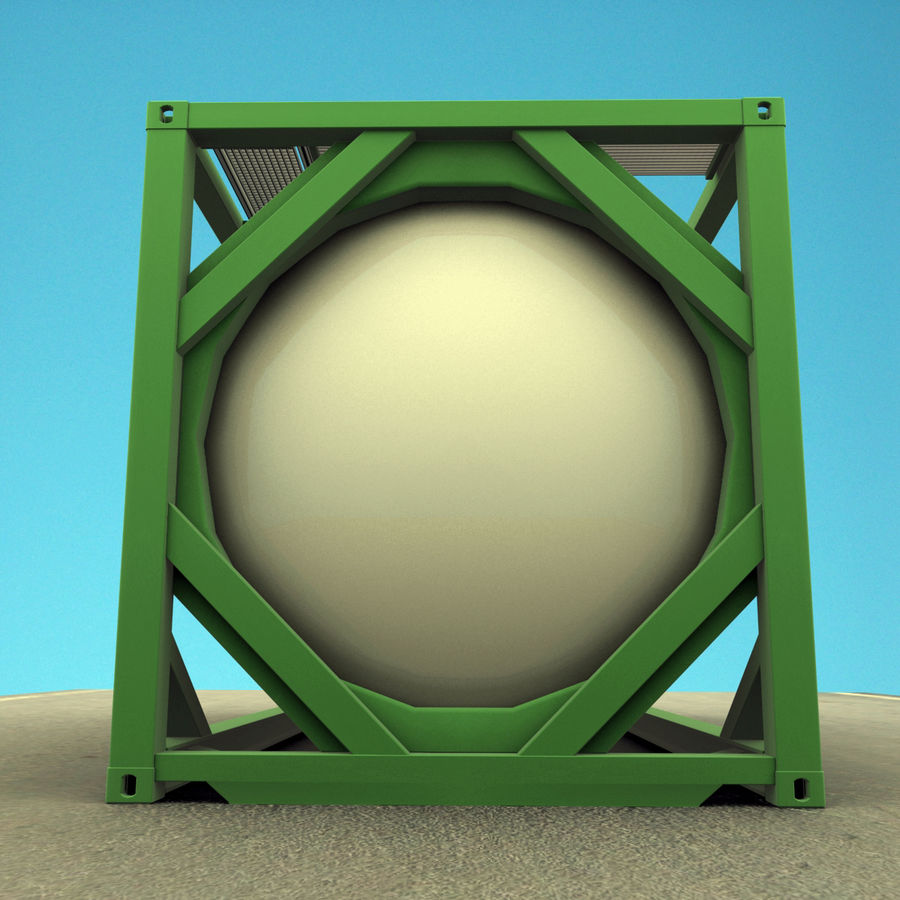 Conteneur-citerne ISO royalty-free 3d model - Preview no. 6