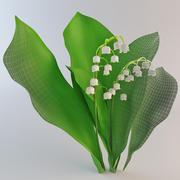 은방울꽃 3d model