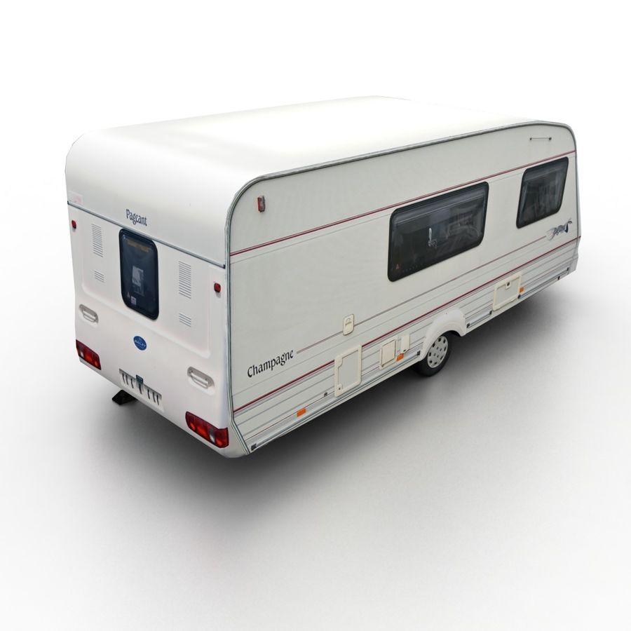 Camper Semi-Trailer royalty-free 3d model - Preview no. 1