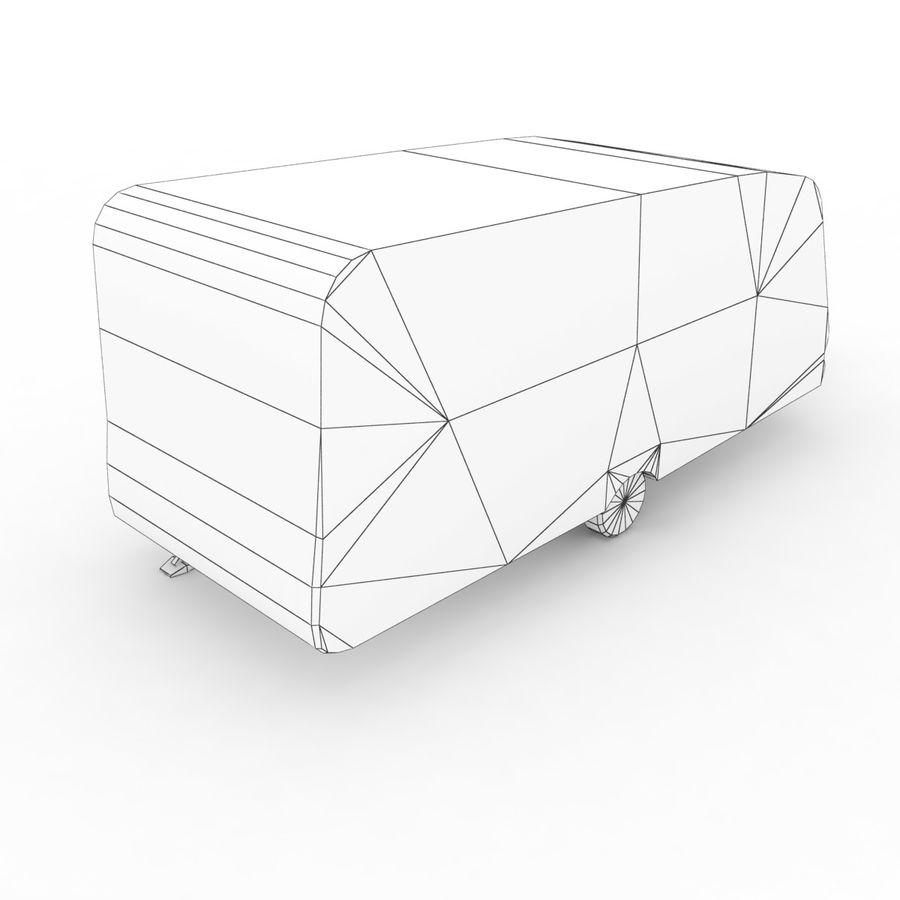 Camper Semi-Trailer royalty-free 3d model - Preview no. 7