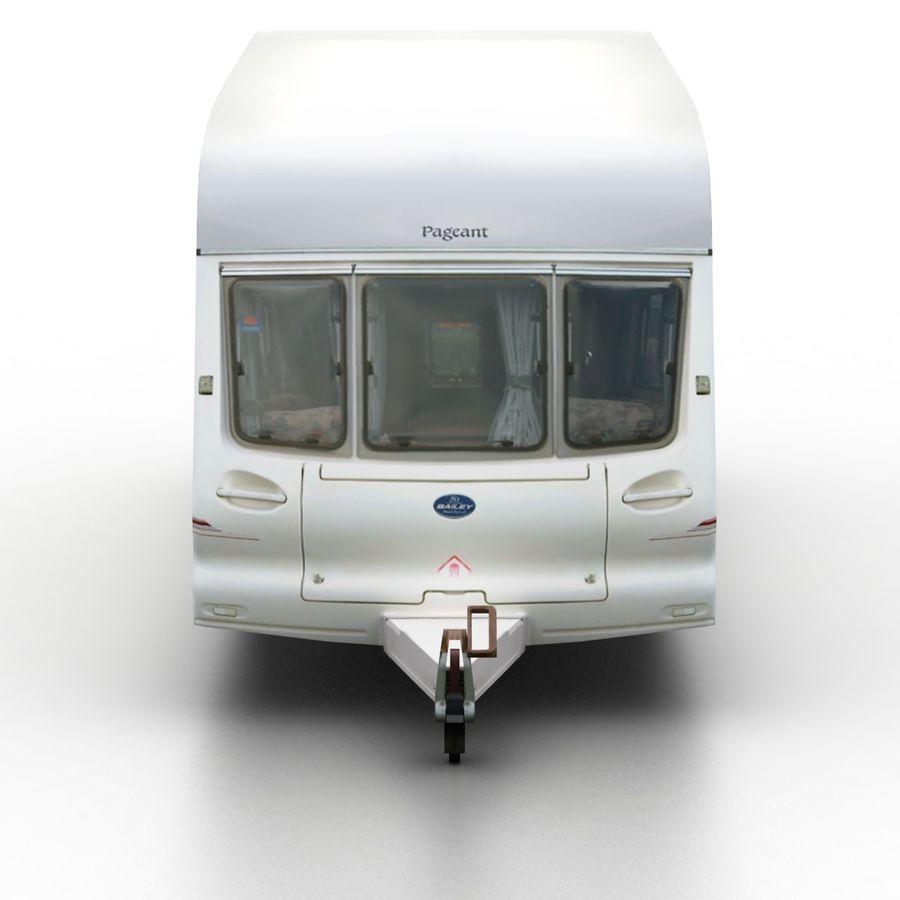 Camper Semi-Trailer royalty-free 3d model - Preview no. 4