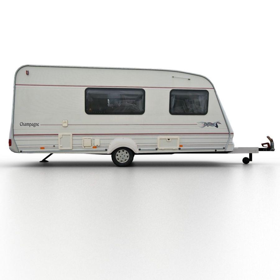 Camper Semi-Trailer royalty-free 3d model - Preview no. 3