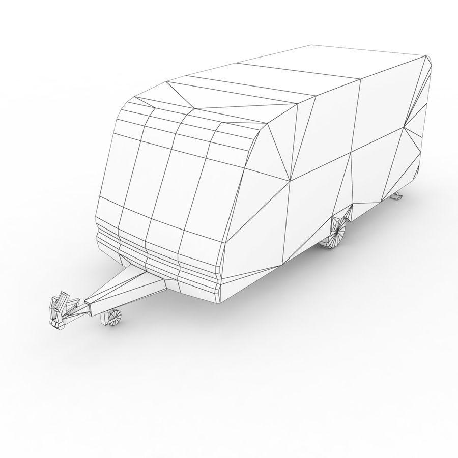 Camper Semi-Trailer royalty-free 3d model - Preview no. 6