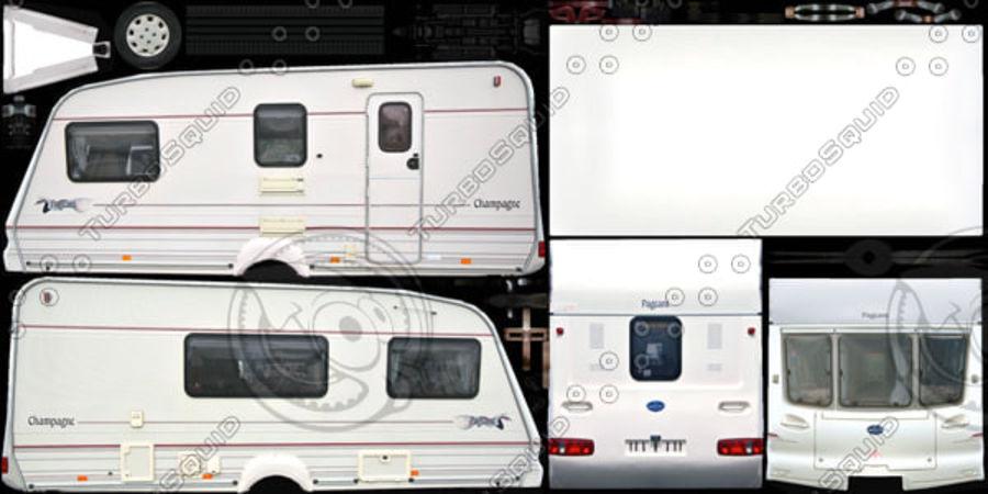 Camper Semi-Trailer royalty-free 3d model - Preview no. 8