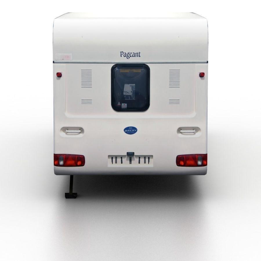 Camper Semi-Trailer royalty-free 3d model - Preview no. 5