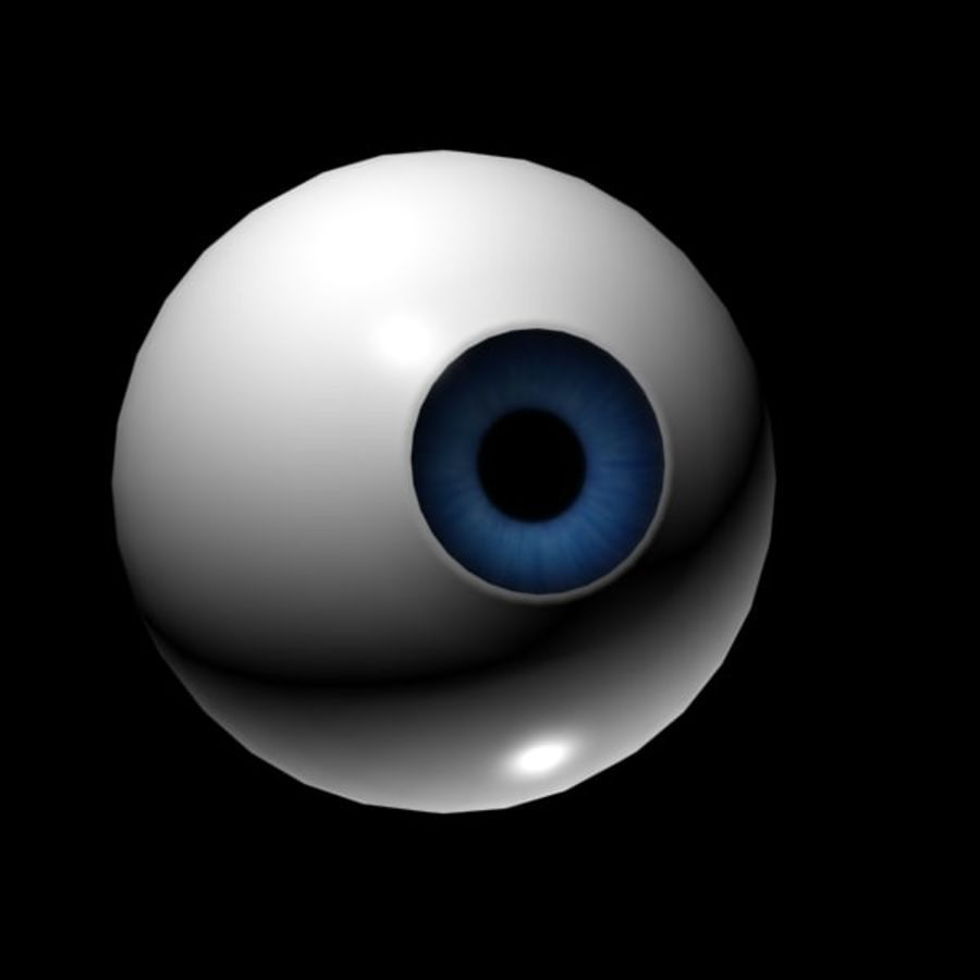Cartoon Eye royalty-free 3d model - Preview no. 4