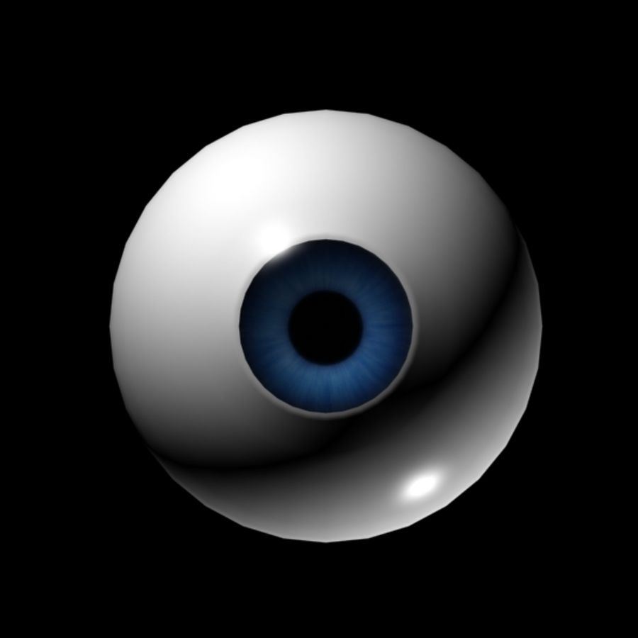 Cartoon Eye royalty-free 3d model - Preview no. 3