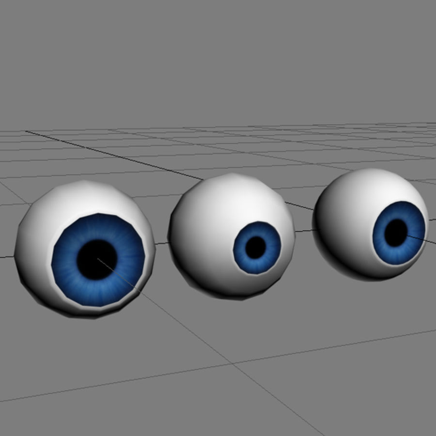 Cartoon Eye royalty-free 3d model - Preview no. 6