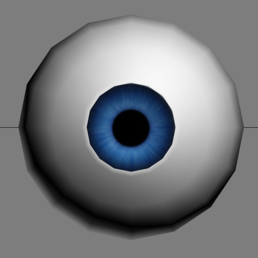 Cartoon Eye royalty-free 3d model - Preview no. 2