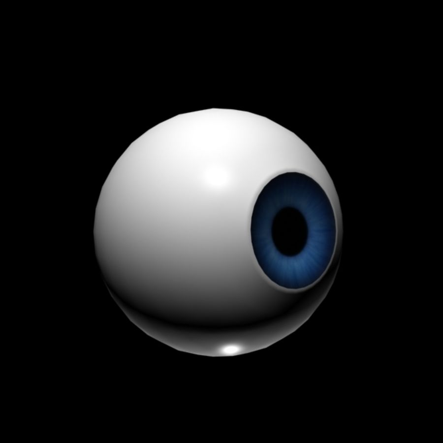 Cartoon Eye royalty-free 3d model - Preview no. 5