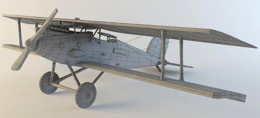 Airplane WW1 royalty-free 3d model - Preview no. 10