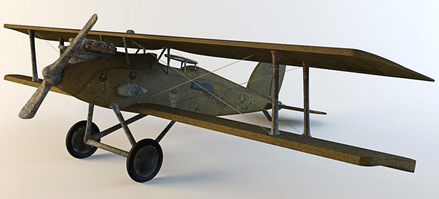Airplane WW1 royalty-free 3d model - Preview no. 9
