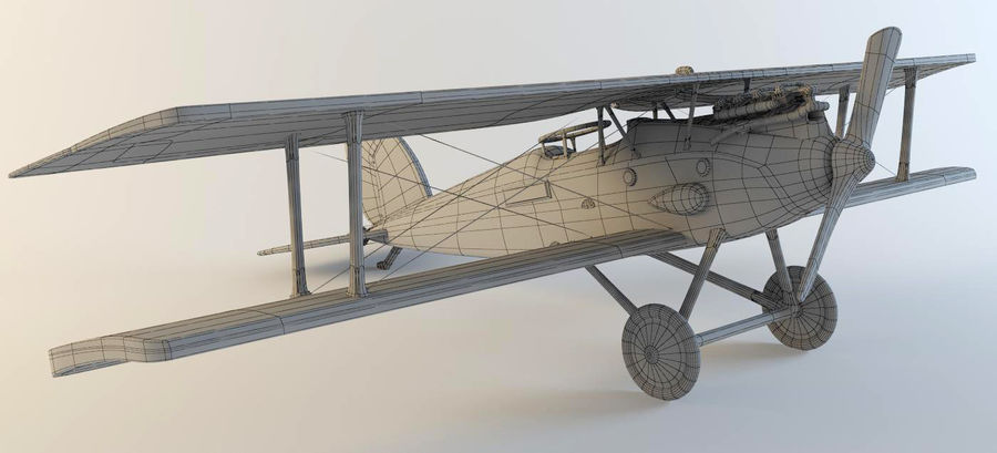 Airplane WW1 royalty-free 3d model - Preview no. 8