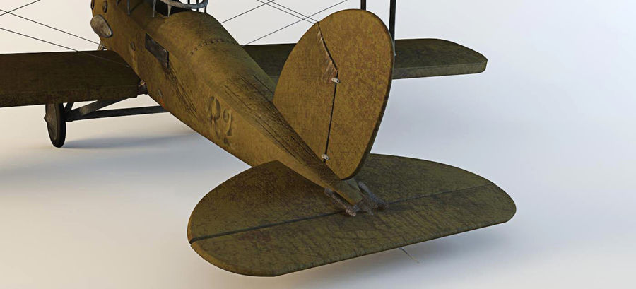 Airplane WW1 royalty-free 3d model - Preview no. 13