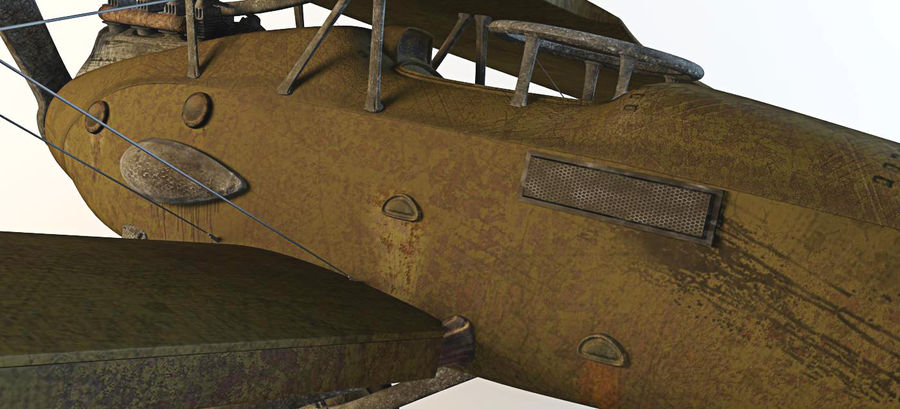 Airplane WW1 royalty-free 3d model - Preview no. 11