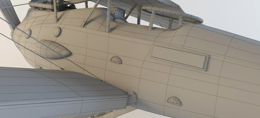 Airplane WW1 royalty-free 3d model - Preview no. 12