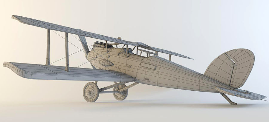 Airplane WW1 royalty-free 3d model - Preview no. 2