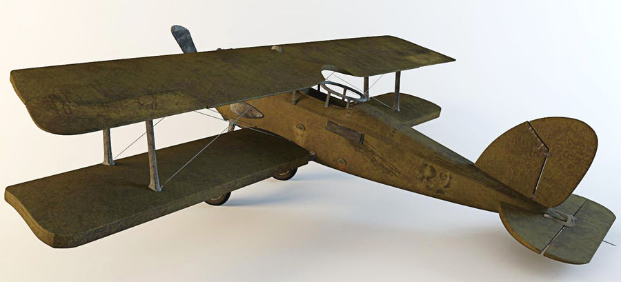 Airplane WW1 royalty-free 3d model - Preview no. 3
