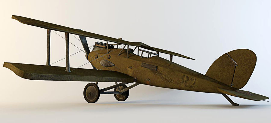 Airplane WW1 royalty-free 3d model - Preview no. 1