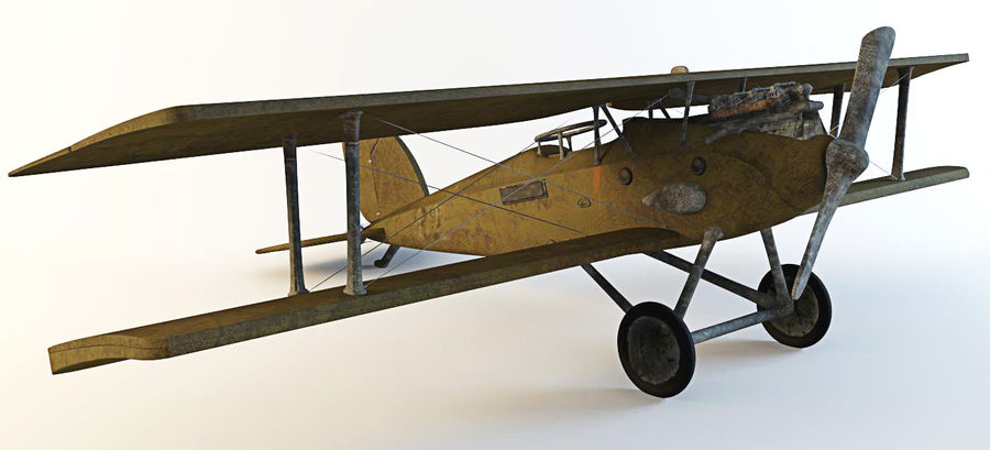 Airplane WW1 royalty-free 3d model - Preview no. 7